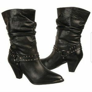 Dingo Emma harness moto pull on slouch boots